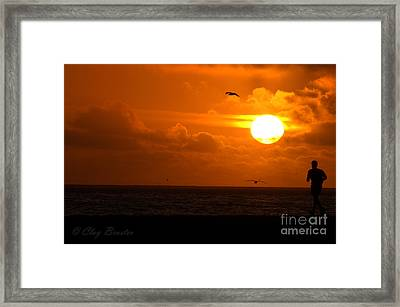 Running By Dusk Framed Print by Clayton Bruster
