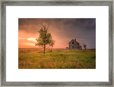 Framed Print featuring the photograph Running Down by Thomas Gaitley