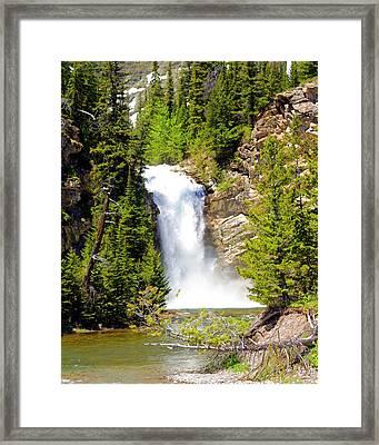 Running Eagle Falls Framed Print by Marty Koch