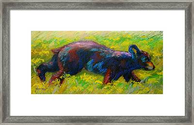 Running Free - Black Bear Cub Framed Print