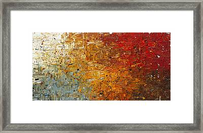 Framed Print featuring the painting Running Free - Abstract Art by Carmen Guedez
