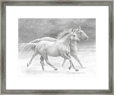 Running Free Framed Print by Carla Kurt