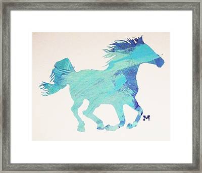 Running Free Framed Print