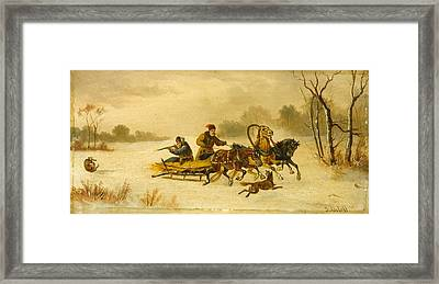 Running From Wolves And Hunting Wolves Framed Print by MotionAge Designs