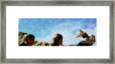 Running Hair  Framed Print by Steven Digman
