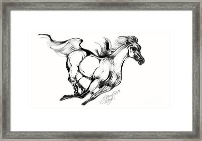 Running Horse Framed Print by Stacey Mayer