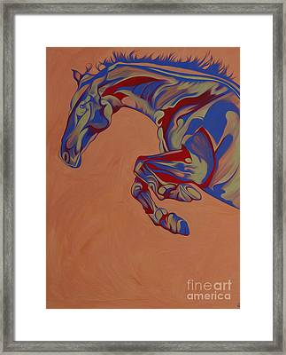 Running Horse  Framed Print by Yaani Art