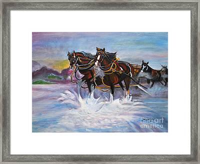 Running Horses- Beach Gallop Framed Print