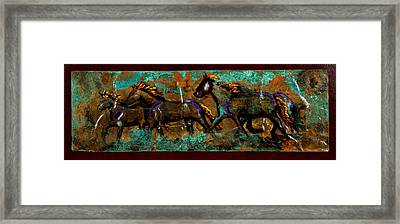 Running Horses Framed Print by Laurie Tietjen