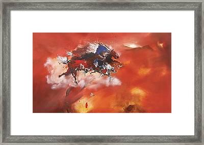 Running Horses Framed Print
