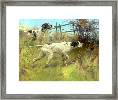 Running In The Meadow Framed Print