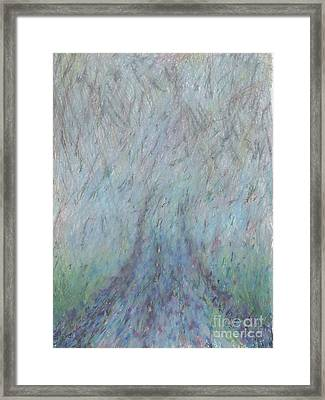 Running Into Fog Framed Print
