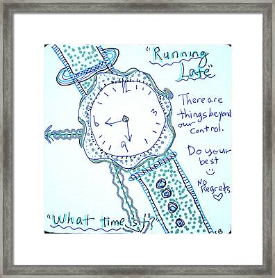 On Time Framed Print by Carole Brecht