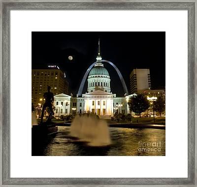 Running Man Framed Print by Tim Mulina