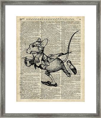 Running Mouse Framed Print by Jacob Kuch