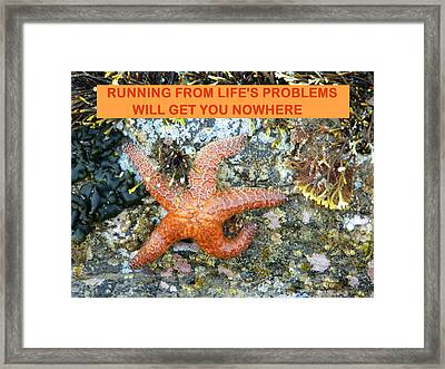 Running Nowhere Framed Print by Gallery Of Hope