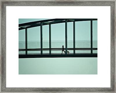 Running On Air Framed Print