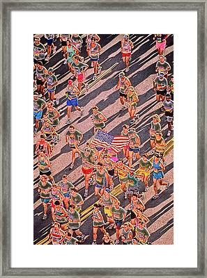 Running On Peachtree  Framed Print