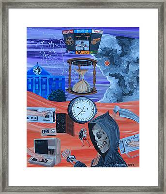 Running Out Of Time Framed Print by Mike Nahorniak