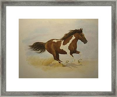Running Paint Framed Print by Jeff Lucas