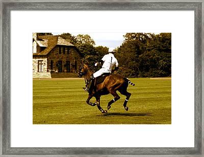 Running Polo Horse Framed Print