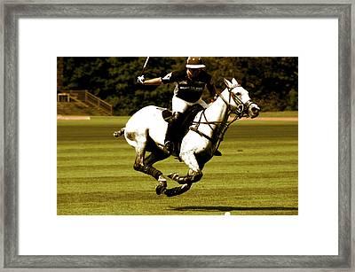 Running Polo Horses Framed Print