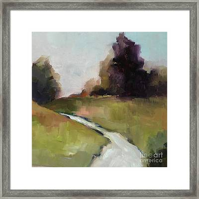 Running Stream Framed Print