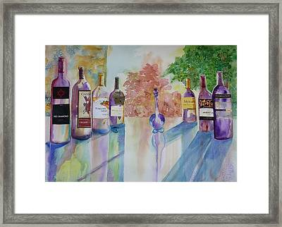 Framed Print featuring the painting Running The Gauntlet by Sharon Mick