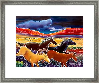 Running The Open Range Framed Print by Harriet Peck Taylor