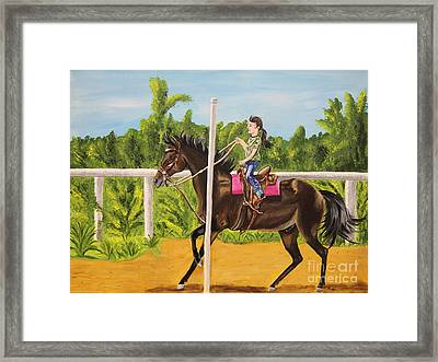 Running The Poles Framed Print by Sheri LaBarr
