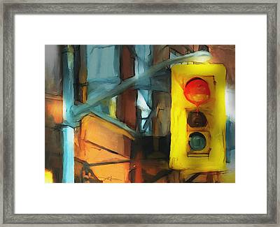Running The Red Framed Print