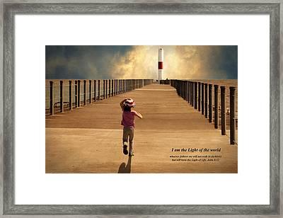 Running To The Light Framed Print by Carol Deltoro