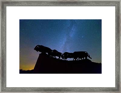 Running Under The Milky Way Framed Print by Stephen Stookey