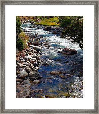 Framed Print featuring the photograph Running Water by Robert Pearson