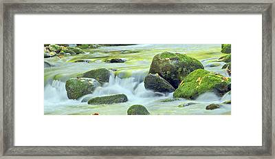 Framed Print featuring the photograph Running Water by Wanda Krack
