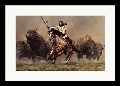 Western Western Art Digital Art Framed Prints
