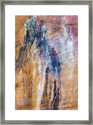 Runoff Abstract, Bhimbetka, 2016 Framed Print by Hitendra SINKAR