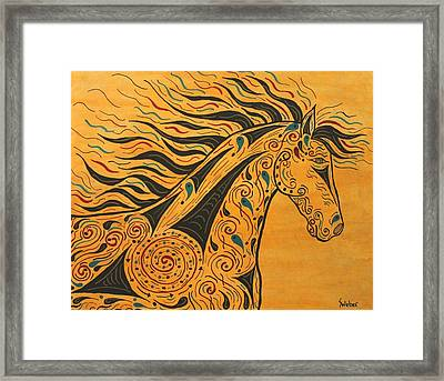 Runs With The Wind Framed Print