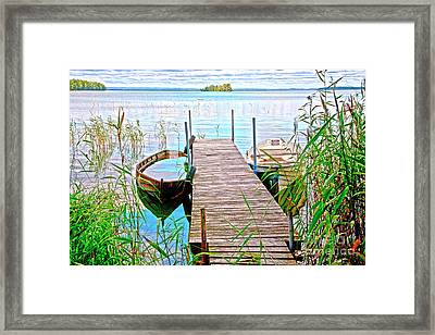 Runway To The Lake Framed Print by Heiko Koehrer-Wagner