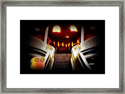 Rupert At The Staircase Framed Print
