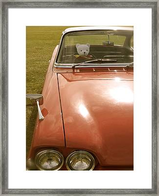 Rupert Bear Out For A Drive Framed Print