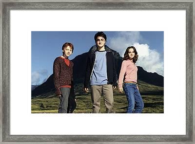 Rupert Grint Daniel Radcliffe Emma Watson Framed Print