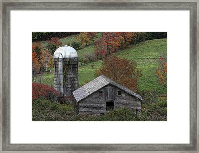 Rupert Mountain Face Barn Framed Print
