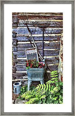 Rural American Graden Scene Framed Print by Linda Phelps