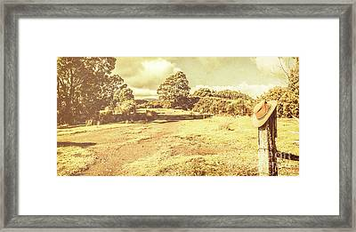 Rural Australia Panorama Framed Print