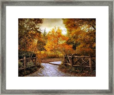 Rural Autumn Entrance Framed Print by Jessica Jenney