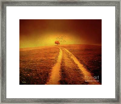 Rural Autumn Landscape Framed Print