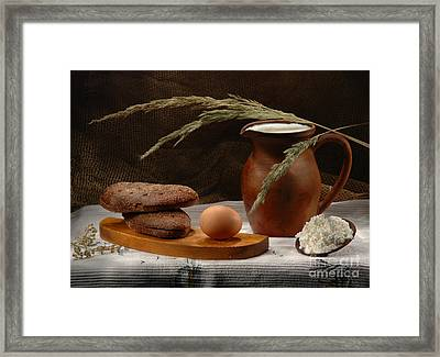 Rural Breakfast Framed Print by Irina No