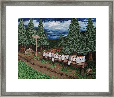 Rural Delivery Framed Print