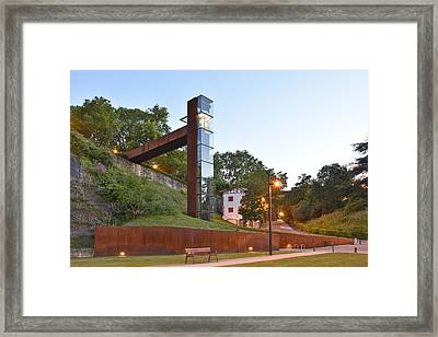 Framed Print featuring the photograph Rural Elevator Pamplona Spain by Marek Stepan